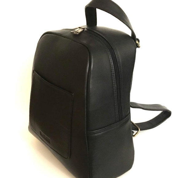 Black Leather Backpack Brand New never used.